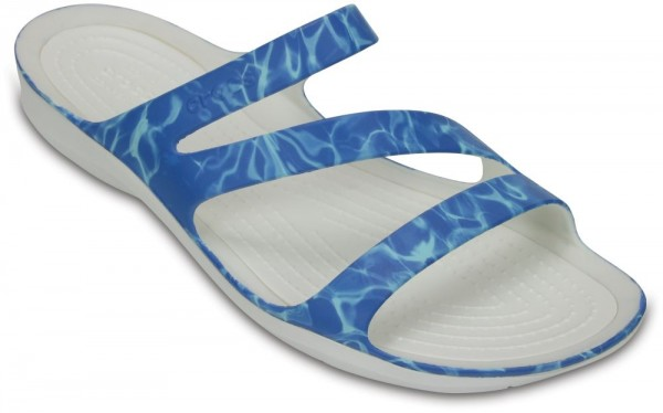Swiftwater Graphic Sandal Water / White Croslite