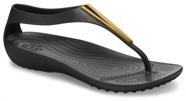 Serena Metallic Bar Flip Women Gold / Black Croslite
