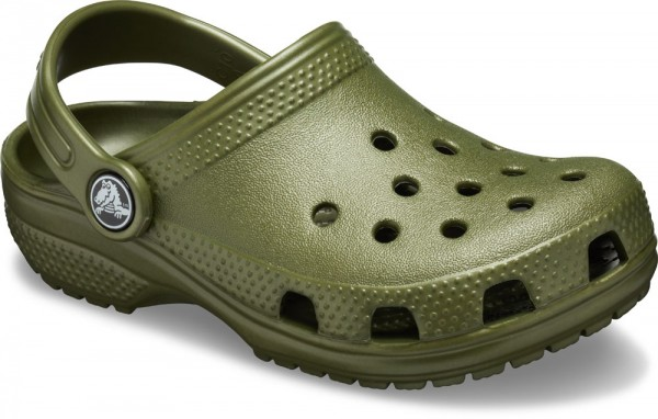 Classic Clog Kids Army Green Croslite