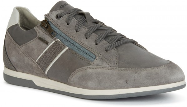 Renan D - Suede Waxed Leather - Grey Leather