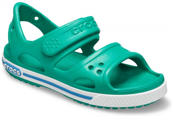 Crocband II Sandal Kids Deep Green / Prep Blue Croslite