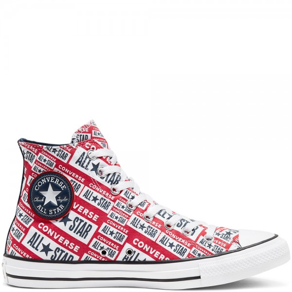 Chuck Taylor All Star - Hi - White / Multi / Black Canvas