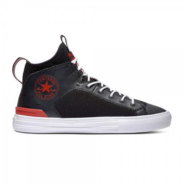 Chuck Taylor All Star Ultra - Mid - Black / University Red / White Leather/Synthetic