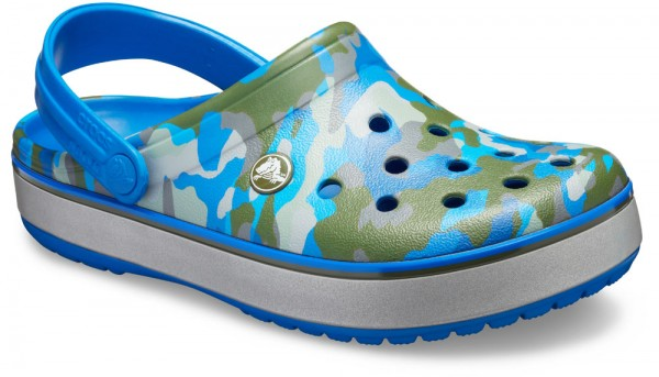 Crocband Printed Clog Bright Cobalt / Army Green Croslite
