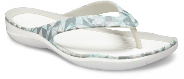 Swiftwater Printed Flip Geo / White Croslite