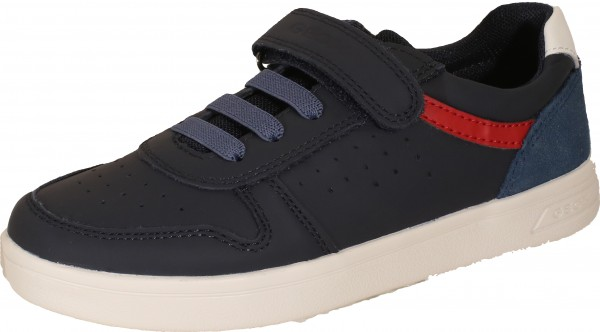 Djrock B. D - Nappa Suede - Navy / Red Leather