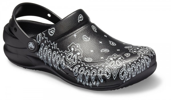 Bistro Graphic Clog Black / White Croslite