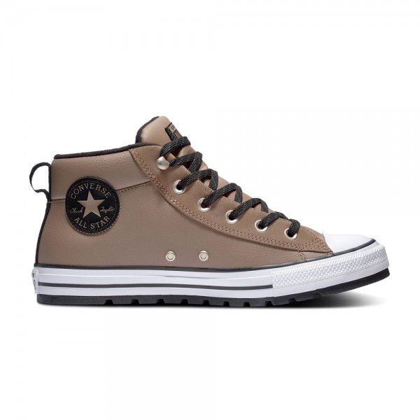 Chuck Taylor All Star Street Leather Mid - Mason Toupe / White / Black Leather