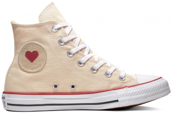 Chuck Taylor All Star Hi Natural / White / Garnet Canvas